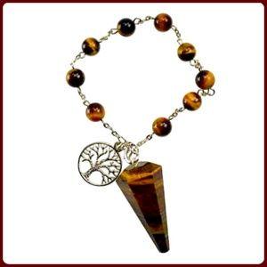 """Jewelry - """"Power Stone"""" Tiger's Eye Pendulum Bracelet"""